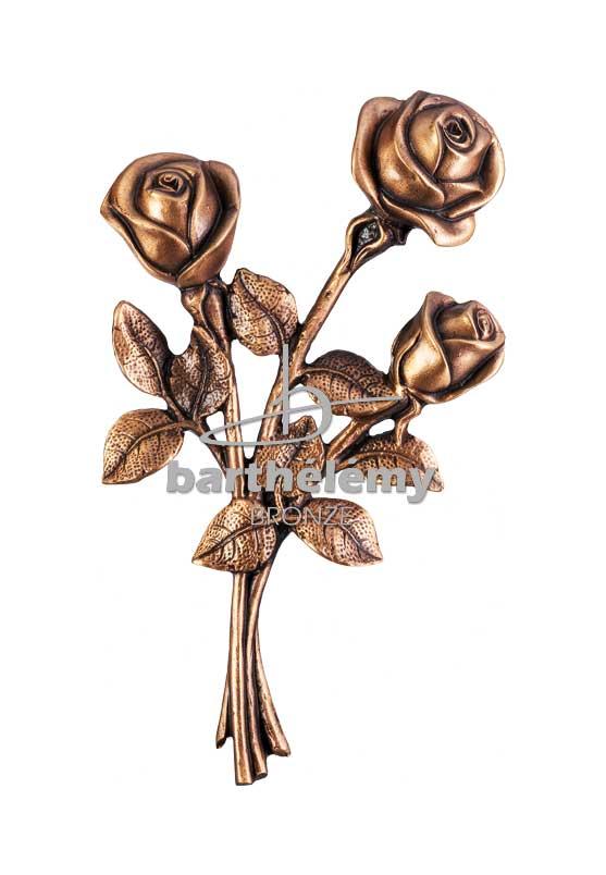 Bronze-TIGES AUX TROIS ROSES