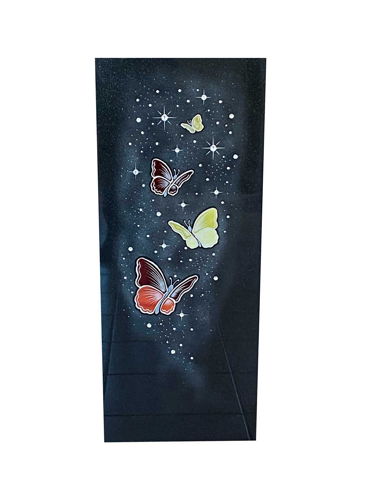 Gravure étoiles et papillons