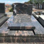 Monument funéraire avec lithogravure - Marbrerie-Borro